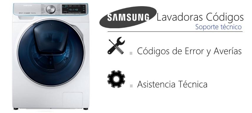 SAMSUNG Códigos de error Lavadoras falla   GMService