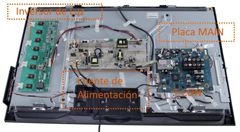 Reparación de televisor LED - LCD placa main T-con | GMService