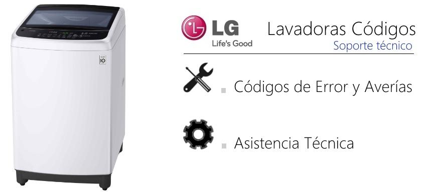 LG Lavadora códigos de error averías carga superior   GMService