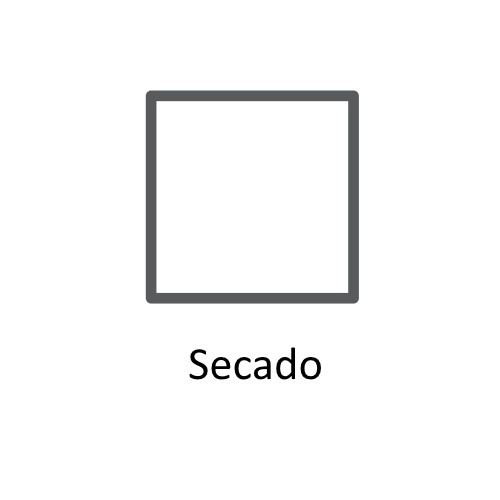 Símbolo de secado y planchado en las etiqueta SECADO ©GMCService