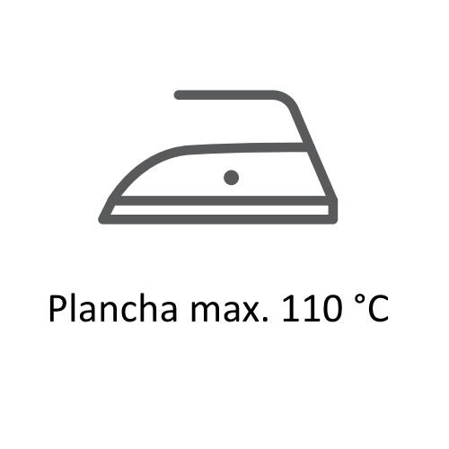 Símbolos de secado  y planchado en las etiquetas de ropa,planchado max. 110º ©GMCService