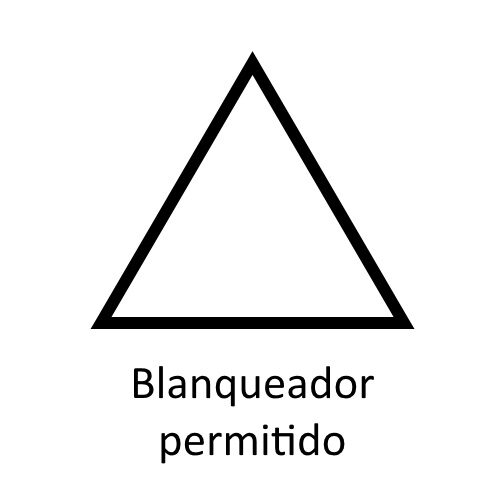 Significado de los Símbolos en etiquetas para blanqueadores ©GMCService